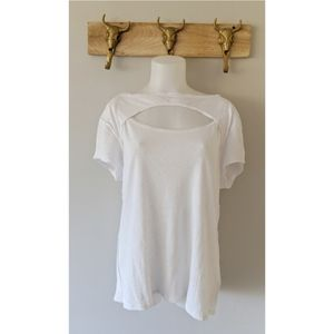 Free People NWT Open Chest Tee